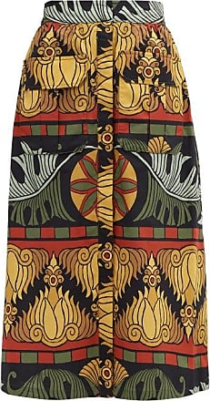 Johanna Ortiz Crossroads Printed Cotton Skirt - Womens - Black Multi