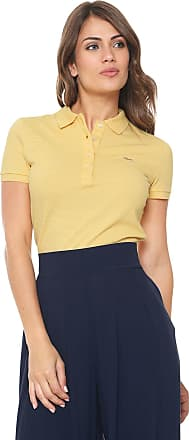 Lacoste Camisa Polo Lacoste Estampada Amarela 556dff6b9f
