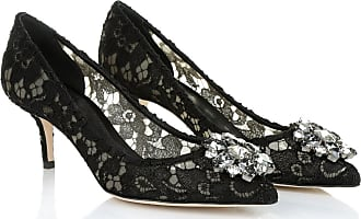 Dolce & Gabbana Pumps - Decollete Pizzo Bellucci Charmant + Raso Nero - black - Pumps for ladies