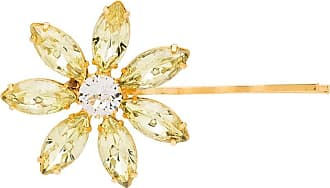 Jennifer Behr Alfinete Santan Flower - Amarelo
