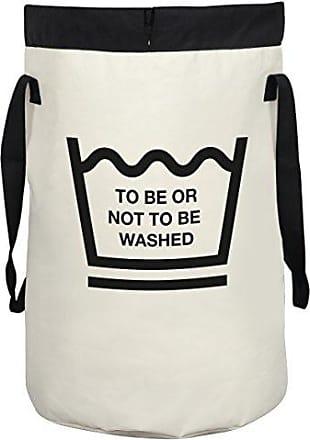 Spirella 10.19357 sacchetto della lavanderia Fun Wash to be White 75 L biancheria contenitore, Tessuto, bianco, 60 x 40 cm