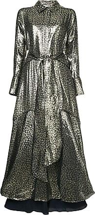 Layeur Vestido Berthe metalizado - Preto
