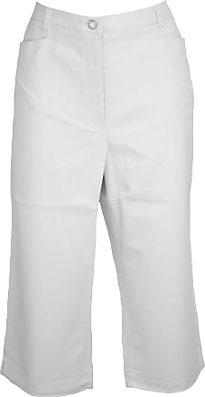 Quelle Stretch Cotton Crop Trousers White 18