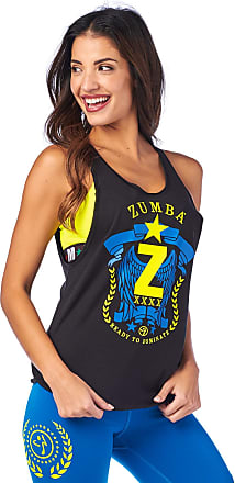 Zumba Breathable Dance Fitness Gym Athletic Shirt Loose Tank Tops for Women Workout Muscle Tank for Women, Bold Black 6, M