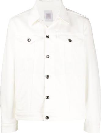 Eleventy boxy fit denim jacket - White