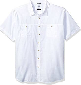 f4811e77 Izod Mens Size Slim Fit Saltwater Dockside Chambray Short Sleeve Button  Down Solid Shirt, Bright