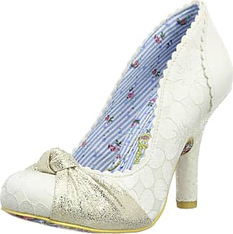 Irregular Choice Womens Smartie Pants Closed-Toe Pumps, Off-White (Cream), 6.5 UK 40 EU