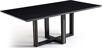 Atelier Clássico Mesa de Jantar Axi Estrutura Madeira Maciça Pés com Detalhe em Alumínio Design Atemporal e Moderno Casa A Móveis