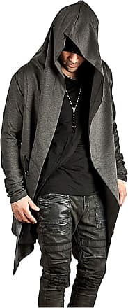 Whatlees Urban Classic Mens Long Hooded Front Open Cardigan Darkgray 02010356XDarkGray+XXL