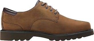 Rockport Men Northfield Leather Lace Up Shoes, Brown (Espresso Nubuck), 7 Men_us ( 40.5 EU)