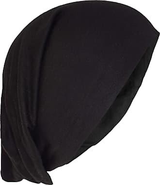 Gheri Summer Cotton Stretchable Beanie Hat Black