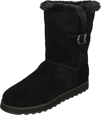 Skechers Ladies Casual Boots Keepsakes 2.0 Shivers Free - Black Nubuck - UK Size 7 - EU Size 40 - US Size 10