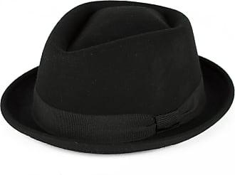 Hat To Socks Black Wool Diamond Shaped Pork Pie Hat Waterproof & Crushable Handmade in Italy