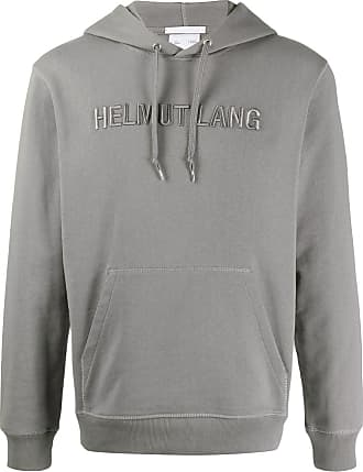 Helmut Lang embroidered logo hoodie - Grey