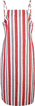 Onia striped mid-length dress - White