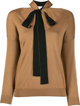 Red Valentino Suéter de tricô com lenço - Marrom