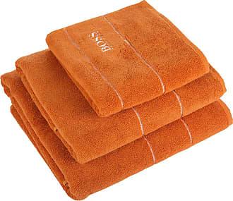 HUGO BOSS Plain Towel - Orange - Bath Sheet