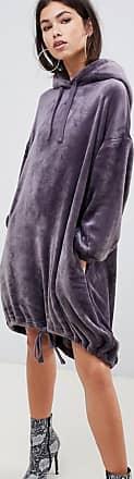 Asos velour hoodie dress - Gray