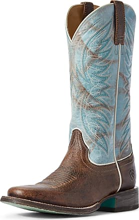 Ariat Womens Circuit Westwood Western Boots in Walnut Brown Leather, B Medium Width, Size 3.5, by Ariat