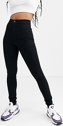 Noisy May high waisted shaping skinny jeans in black