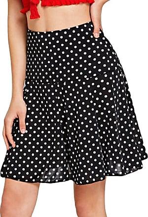JERFER Women High Waist Wave Fashion Girls Sexy Uniform Pleated Mini Skirt Black S-XL Skirt