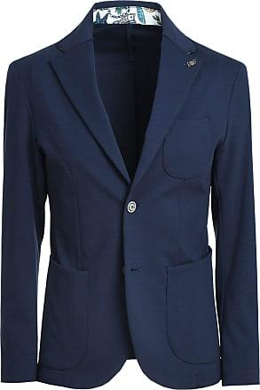 BOB Fashion Man GULLY382T382ROYAL Blue Polyamide Blazer Spring Summer 20