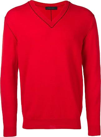 Falke v-neck lightweight jumper - Red