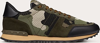Valentino Valentino Mesh Fabric Camouflage Rockrunner Sneaker Man Military Green Polyester 100% 41.5