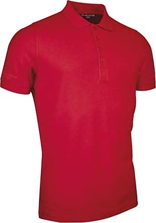 Glenmuir Mens MSC7211 Classic Fit Cotton Pique Polo Shirt Garnet M