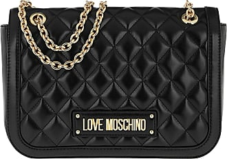 8960fe9defdb2 Love Moschino Quilted Chain Shoulder Bag Black Umhängetasche schwarz