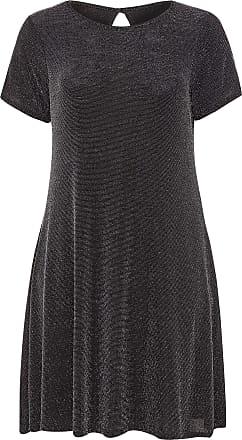 Yours Clothing Clothing Womens Plus Size Sparkle Swing Dress Size 26-28 Black