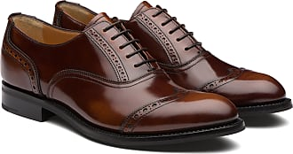 Churchs Polished Fumè Oxford Brogue Woman Tabac Size 37,5
