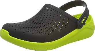 Crocs LiteRide Clog, Unisex-Adults Clogs, Black/Lime Punch, M7/W8 UK (41/42 EU)