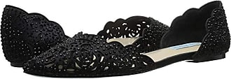 Blue by Betsey Johnson Lucy (Black Satin) Womens Shoes