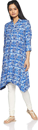 Indigo Womens Straight Kurti(SS18IND- 434_Blue_Small)