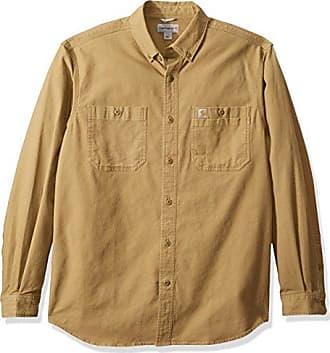 1887b8b698d Carhartt Work in Progress Mens Rugged Flex Rigby Long Sleeve Work Shirt,  Dark Khaki,