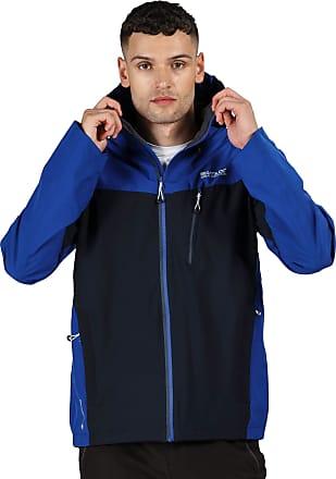 Regatta Birchdale Mens Lightweight Waterproof Breathable Hooded Jacket Navy XL