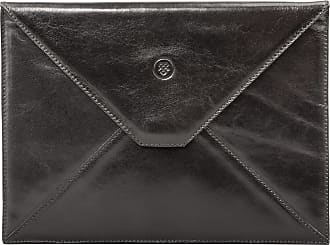Maxwell Scott Maxwell Scott - Luxury Black Leather Ipad / Tablet Case (Ettore)