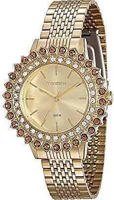 Mondaine Relógio Cristais Externos Dourado