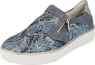 Remonte Ladies Casual Shoes R5504-12 - Blue Combination Leather - UK Size 4 - EU Size 37 - US Size 6