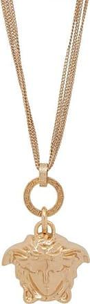 Versace Medusa-charm Triple-chain Pendant - Womens - Gold