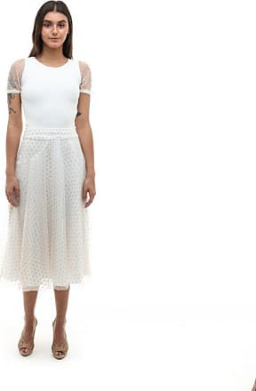 Tulle Jour Saia Carla Off White - Mulher - Off-white - M BR