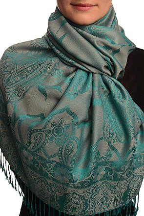 Liss Kiss Moroccan Rose On Grey Pashmina Feel With Tassels - Grey Pashmina Floral Scarf