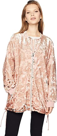 French Connection Womens Adette Shine Oversized Sequin Jacket, Teagown, Medium