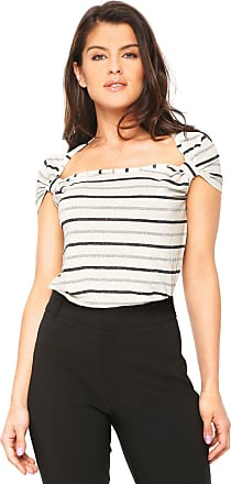 Lucy in the Sky Blusa Lucy in The Sky Listrada Off-White