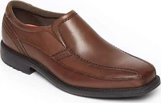 Rockport Mens SL2 Bike Leather Square Toe Slip On Shoes, Truffle Tan, Size 10.0 US/9.5 UK US