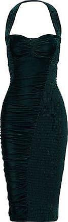 Stella McCartney Stella Mccartney Woman Olympia Cutout Velvet Halterneck Dress Petrol Size 38