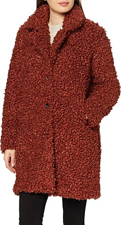 Only Womens ONLCAMILLA Shearling Coat OTW, Red (Burnt Henna Burnt Henna), XS