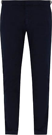 Orlebar Brown Campbell Slim-leg Cotton Trousers - Mens - Navy