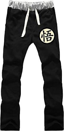 Cosstars Anime Dragon Ball Z Goku Sweatpants Trousers Cosplay Costume Sport Jogging Long Pants with Pockets Black 3 S